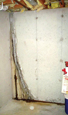 basement wall crack repair by clementon sicklerville cherry hill